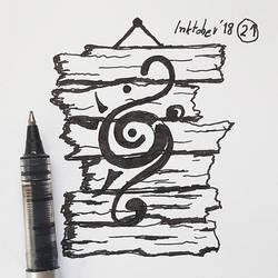 #21 Magic sign - Inktober2018 by Iggy-design