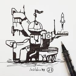 #23 Launch institute - Inktober2018 by Iggy-design