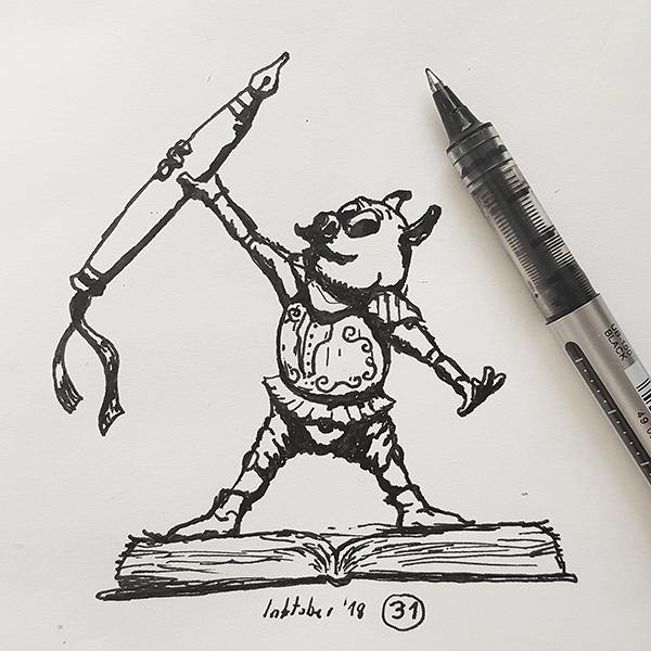 #31 I made it every day - Inktober2018 by Iggy-design