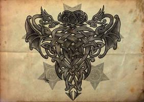 Celtic Dragon by shepush