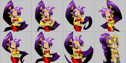 Shantae Portraits by Bagu-Art