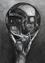 A Homage to MC Escher by Adrianna-Grezak