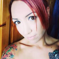 A little selfie with chest piece by DinkyPrincessa