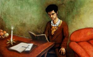 Austerity, portrait of David by ABDportraits
