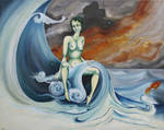 Ondine, the birth of a water sprite by ABDportraits
