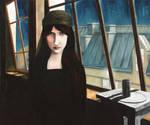Stay, Jeanne Hebuterne in Modigliani's workshop by ABDportraits
