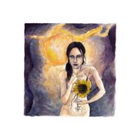 2013 Acrylique, le coeur tournesol copyright by ABDportraits