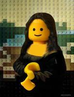 Lego Mona Lisa by Eeveeisgerman