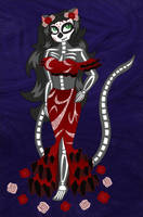Gabriella's Day of the Dead Skeleton Costume by white-tigress-12158