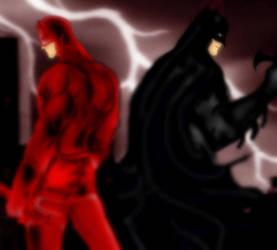 Daredevil/Batman by Shadow-Harvest