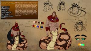 Fantasy AU Reference Sheet: Khaneeth by geekgirl8