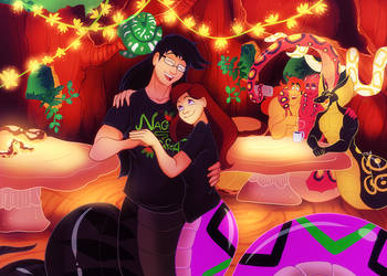 Hanging Out at the Naga Cafe by geekgirl8
