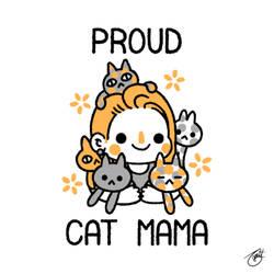Proud Cat Mama (Black Lettering) by knitetgantt