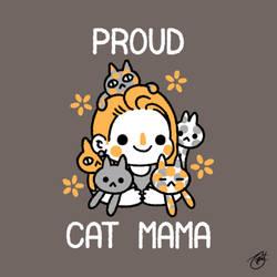 Proud Cat Mama (White Lettering) by knitetgantt