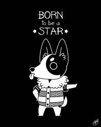 My Gal Hilda: Born to Be a Star (Dark Base) by knitetgantt