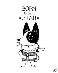 My Gal Hilda: Born to Be a Star (Light Base) by knitetgantt