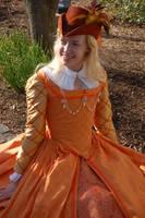 Fanta Orange Renaissance Gown by CountessLenore