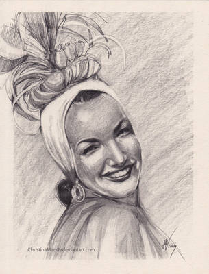 Carmen Miranda sketch by ChristinaMandy