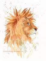 King with golden feathers by ChristinaMandy
