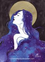 Golden moon by ChristinaMandy