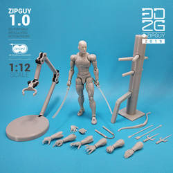 ZIPGUY First Ever 3D printed Zip tie Action figure by 3dzipguy