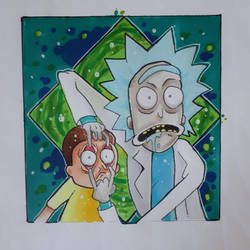 Rick and Morty by partyboy3543