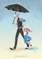 Under My Umbrella by theartful-dodge
