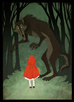 Little Red and the Wolf by theartful-dodge