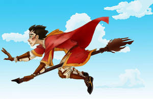 Harry Potter - Quidditch Match by theartful-dodge