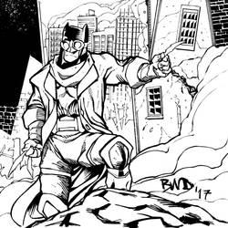 apocalyptic Batman by wlfmn68