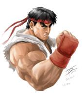 Ryu portrait by danielcunha99x