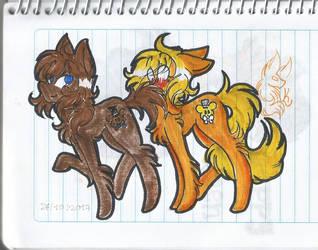 Golddy pony style by Kiaza118