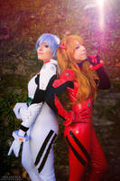 Asuka and Rei by HeavenAndSky