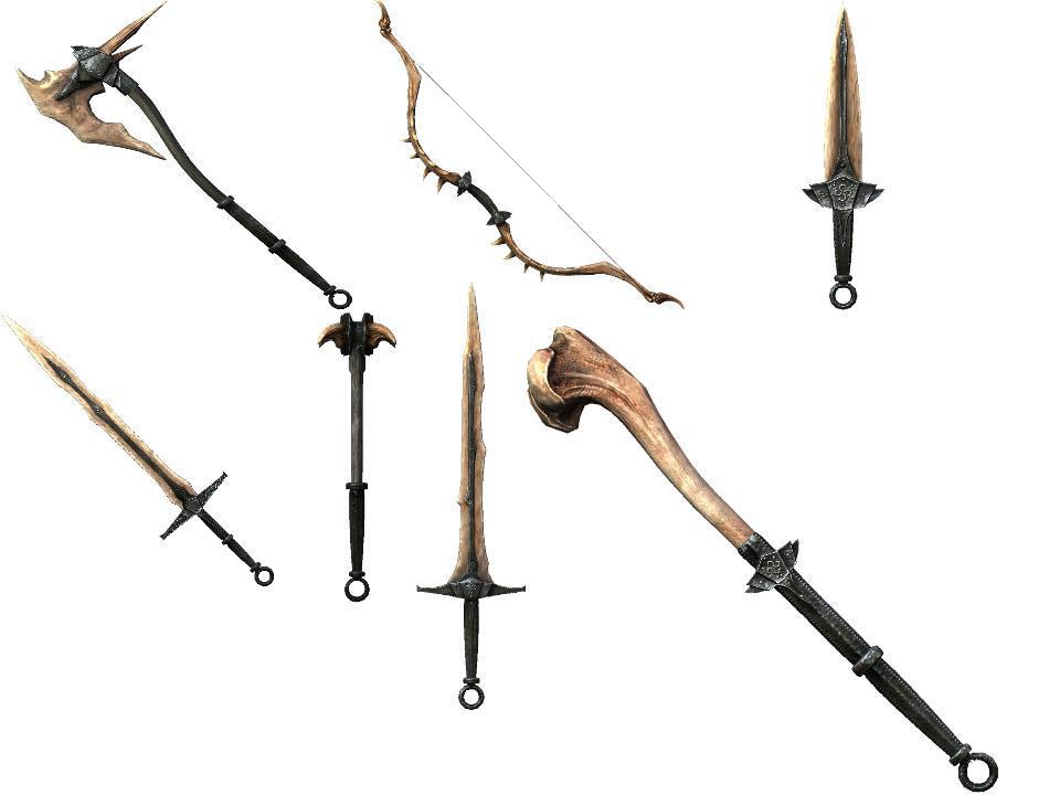 Skyrim Dragonbone Weapons By The Deviant Kaba On Deviantart