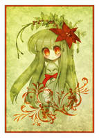Poinsettia Greeting Card by sererena