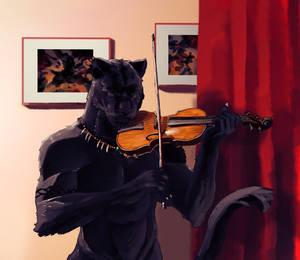 Commission - Deeja Playing by DarklyWhite