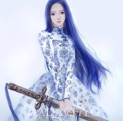 Blue porcelain by DADACHYO