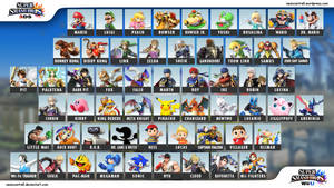 Super Smash Bros Wii U / 3DS Character Selection by seancantrell