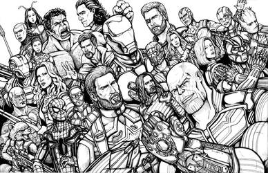 Avengers Infinity War by Daniel-Jeffries