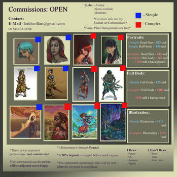 Commissions Sheet by DeadArts