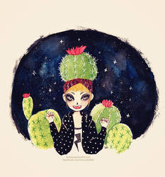 Cactus girl 2 by LoveSoup