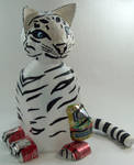Tiger cub - recycled art project by MidnightTiger8140