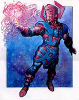 Galactus creates the Silver Surfer by Reverie-drawingly