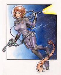 Spacegirl by Reverie-drawingly