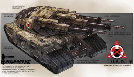 Tank Concept - MBT Panhammer by CrowtherLindeque