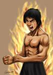 Bruce Lee Fury by CarlosVasseur