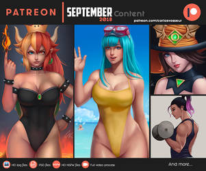 September Patreon Content 2018 by CarlosVasseur