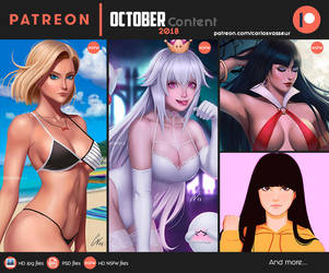 October Patreon Content 2018 by CarlosVasseur