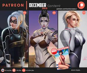 Patreon DECEMBER 2018 Content by CarlosVasseur