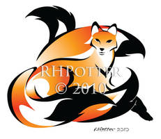 Golden Kitsune by RHPotter